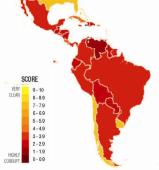 América Latina: Índice de percepción de la corrupción2011