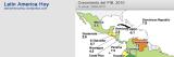 Latinoamérica: PIB y crecimiento del PIB,2010