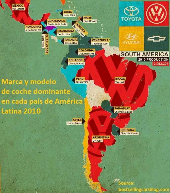 Mapa Automoviles America Latina