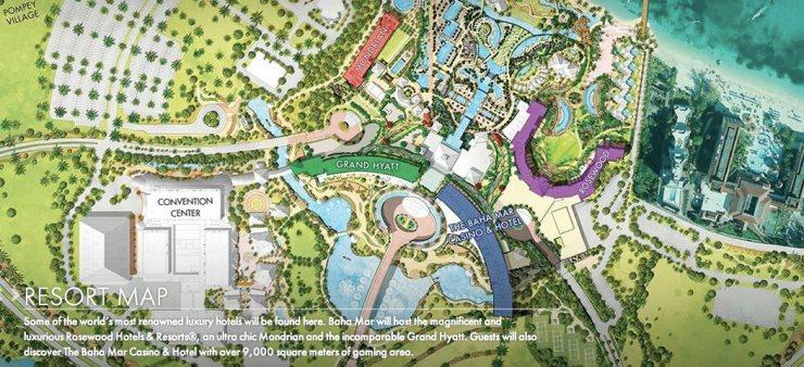 Plano del proyecto turístico Baha Mar