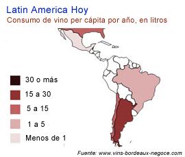 Consumo de vino per capita en America Latina