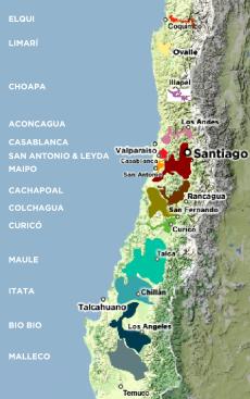 Regiones vinicolas Chile