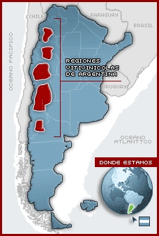 Regiones vinicolas de Argentina
