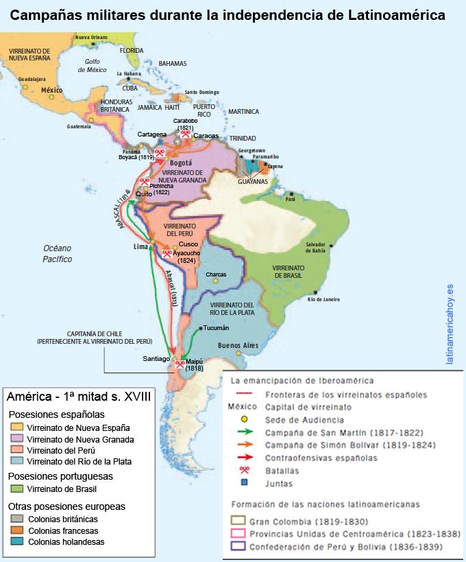 Campañas militares durante la independencia
