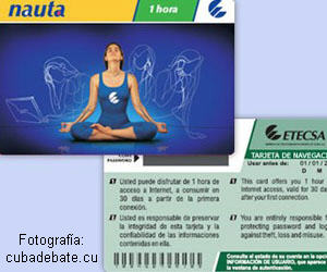 Tarjeta Nauta temporal para acceso a internet wifi 1h.